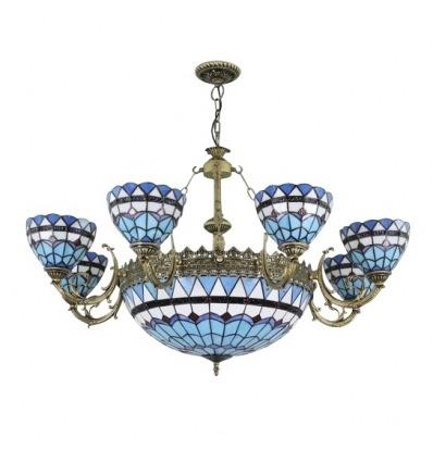 Lustre Tiffany bleu de la série Monaco