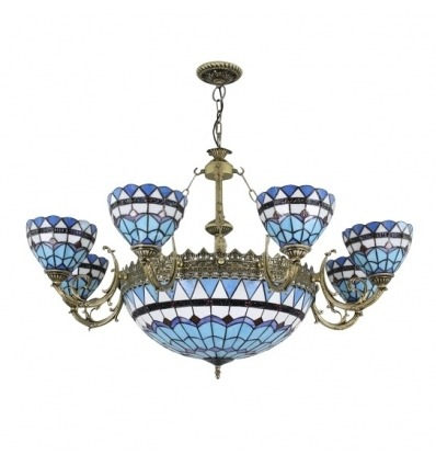 Tiffany blue chandelier of the Monaco series