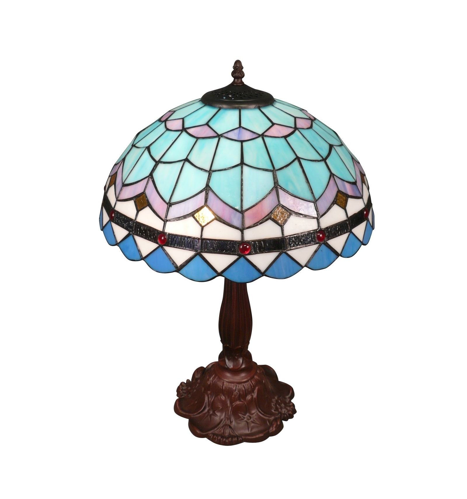gro e blaue tiffany lampe. Black Bedroom Furniture Sets. Home Design Ideas