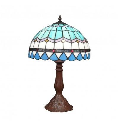 Modrá lampa Tiffany