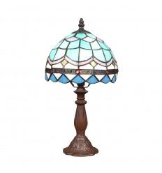 Lámpa kék Tiffany mediterrán