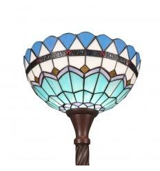 Lattiavalaisin Tiffany Torchiere Välimeren muodossa
