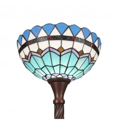 Lattiavalaisin Tiffany Torchiere Välimeren muodossa -