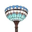 Lampada da terra Tiffany a forma di bruciatore Mediterraneo -