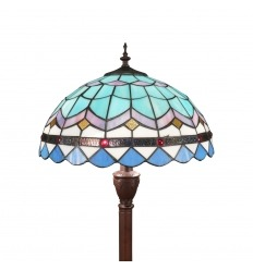 Tiffany floor lamp blue from the Mediterranean series