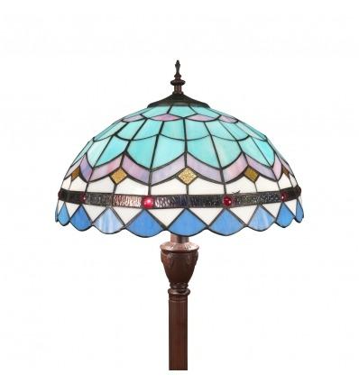 Lámpara de pie Tiffany azul de la serie mediterránea - Lamparas tiffany baratas