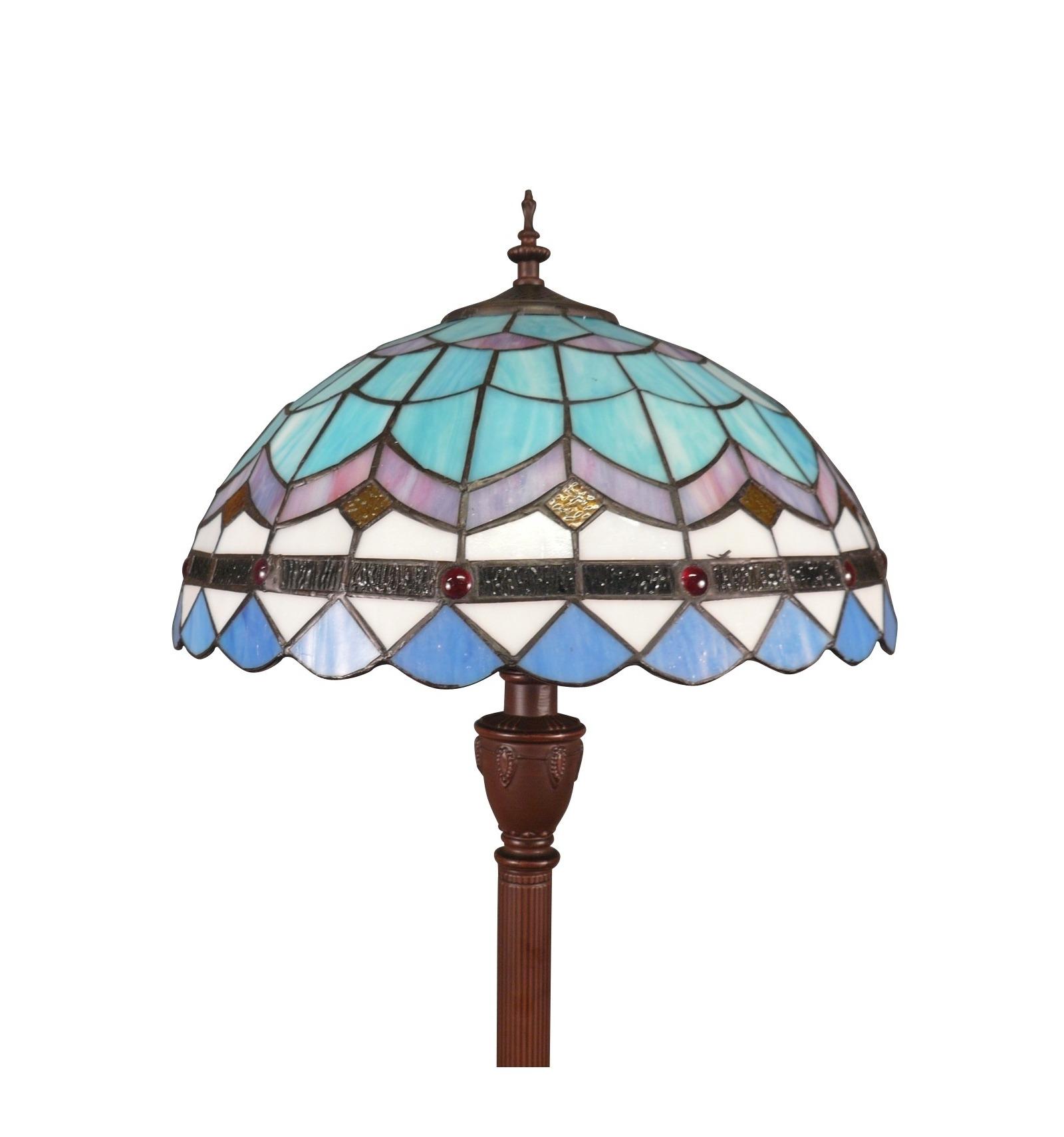 tiffany floor lamp blue of the monaco series. Black Bedroom Furniture Sets. Home Design Ideas