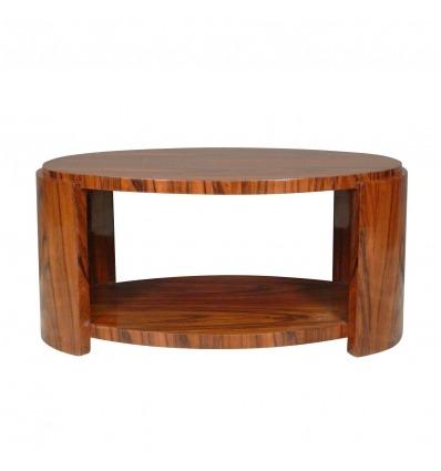 Mesa oval mobiliário de estilo art deco - tabelas Deco - Deco -