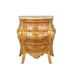 Commode Louis XV en loupe d'orme