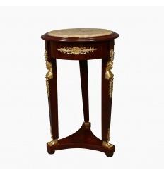 Mesa de pedestal imperio