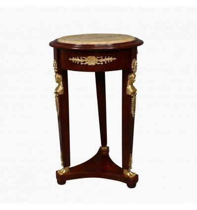 Mesa de pedestal imperio - pedestal