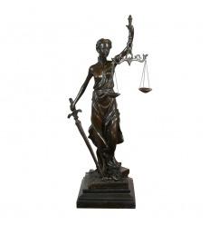 Szobor bronz Themis istennő, a jog érvényesülésén alapuló térség