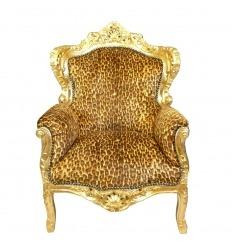 Fauteuil baroque léopard