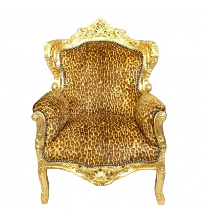 Baroque leopard armchair
