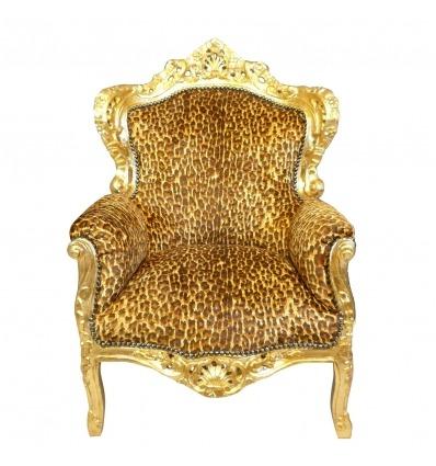 Sillón de leopardo barroco - Mesa, tocador, silla y muebles de estilo