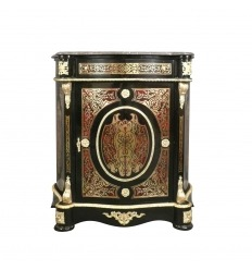 Empire Sideboard in Boulle Intarsien und Marmorplatte