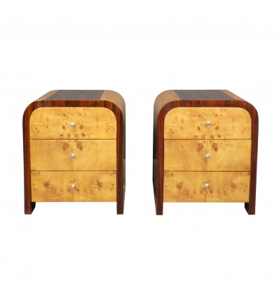 Paar Chevets Art Deco-Bett Art Deco-Möbel Art Deco -