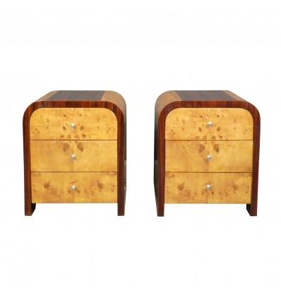 Chevetsin pari Art Deco-Bedside Art Deco-huone kalut Art deco -