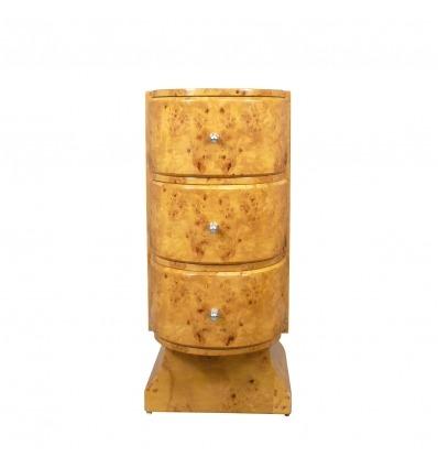 Round Deco dresser in light wood - furniture Deco -