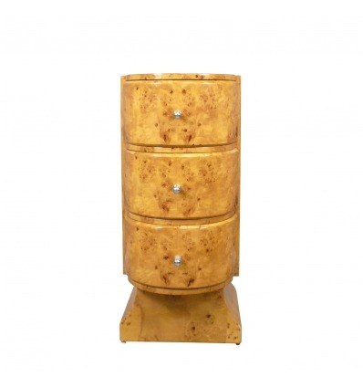 Rotondo comò Deco in legno chiaro - mobili Deco -