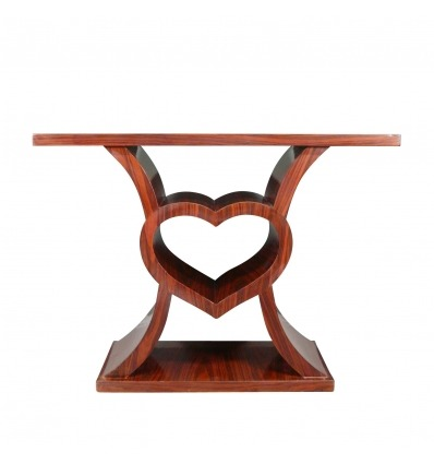 Heart-shaped Art Deco console-Art Deco furniture -