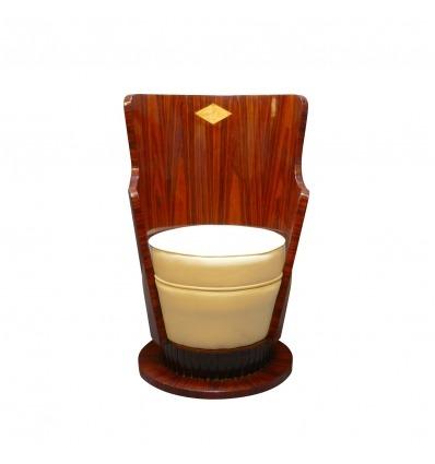 Stoel art deco - art deco rozenhout houten meubels -