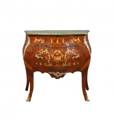 Louis XVI Kommode - Louis XV TOILETSTOL -