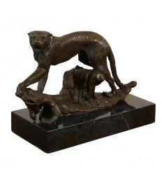 Pantera - escultura de bronce