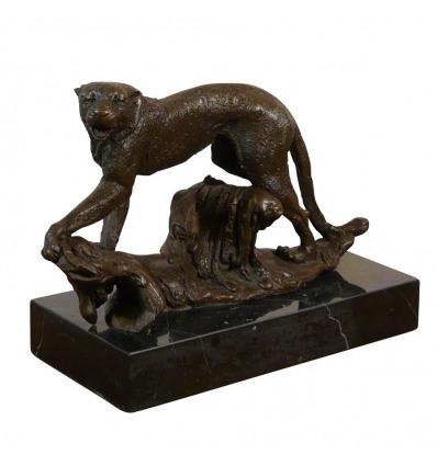 Pantera - scultura in bronzo