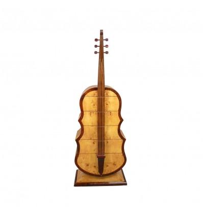 Cómoda art déco con forma de guitarra. - Cómoda Art Deco