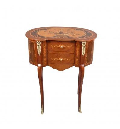 Nachttisch im Stil Louis XV - Bettseite -