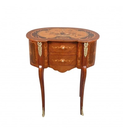 Louis XV style bedside table - bedside -