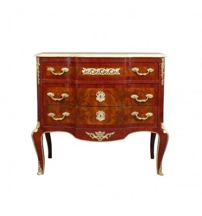 Mobília de Louis XV - XVI - cômoda com gavetas estilo Louis XV -