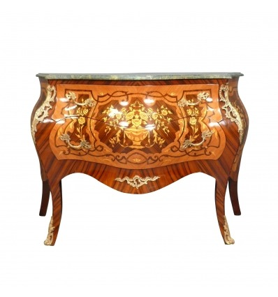 Commode Louis XV - Grande commode Louis XV -