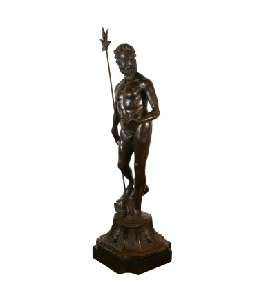 Bronze statue of Poseidon - Sculpture of Neptune - Man -