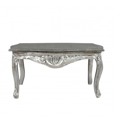 Baroque silver coffee table for the living room