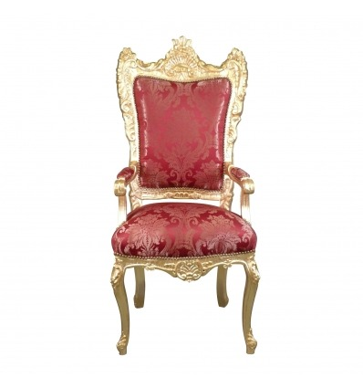 Barock Sessel roter Stil Thron