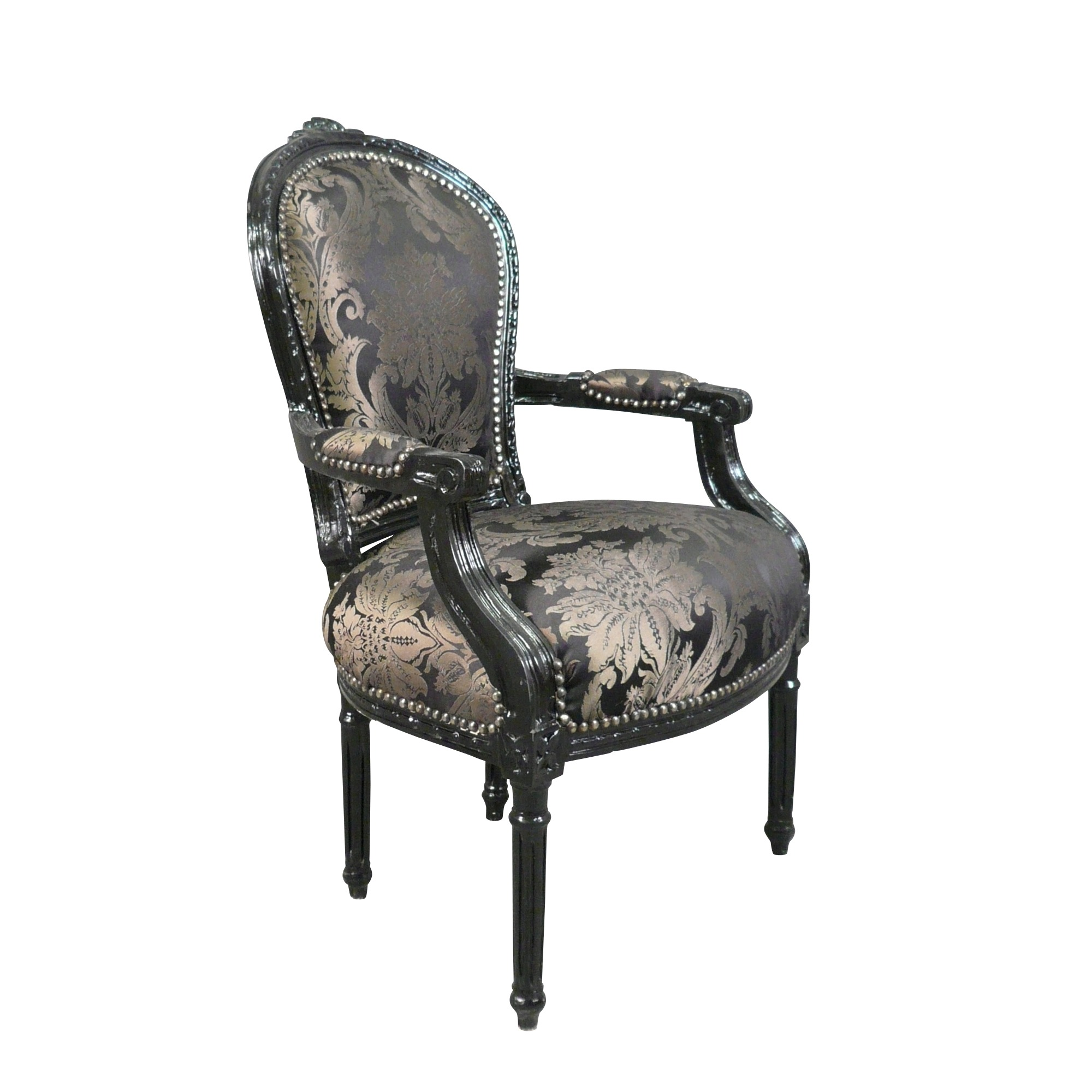 htdeco fauteuil louis xvi baroque chaise ebay. Black Bedroom Furniture Sets. Home Design Ideas