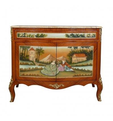 Louis XV sideboard, 2 doors -