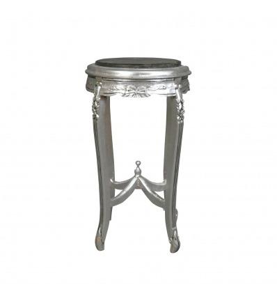 Cablaggio barocco in legno cornice d'argento Luigi XV -
