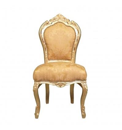 Chaise baroque dorée en bois massif - Chaises baroque -