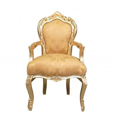 Fauteuil baroque doré - Mobilier rococo