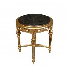 Nacken- oder kleiner Barocktisch aus vergoldetem Holz