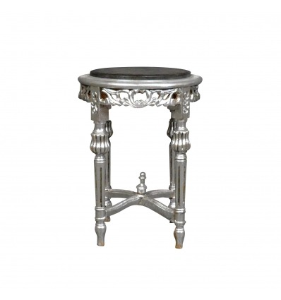 Baroque silver saddle