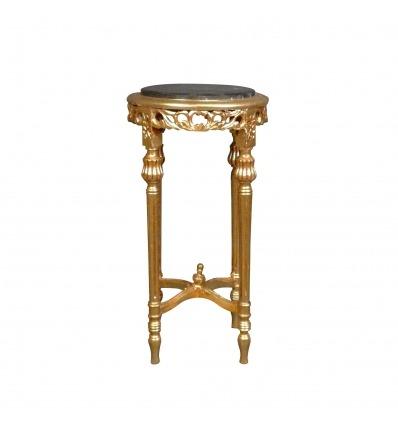 Arnés barroco en madera dorada-mesas barrocas.