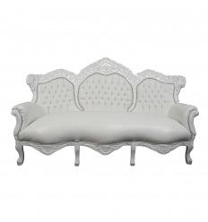 Canapé baroque blanc