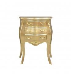Petite commode baroque dorée