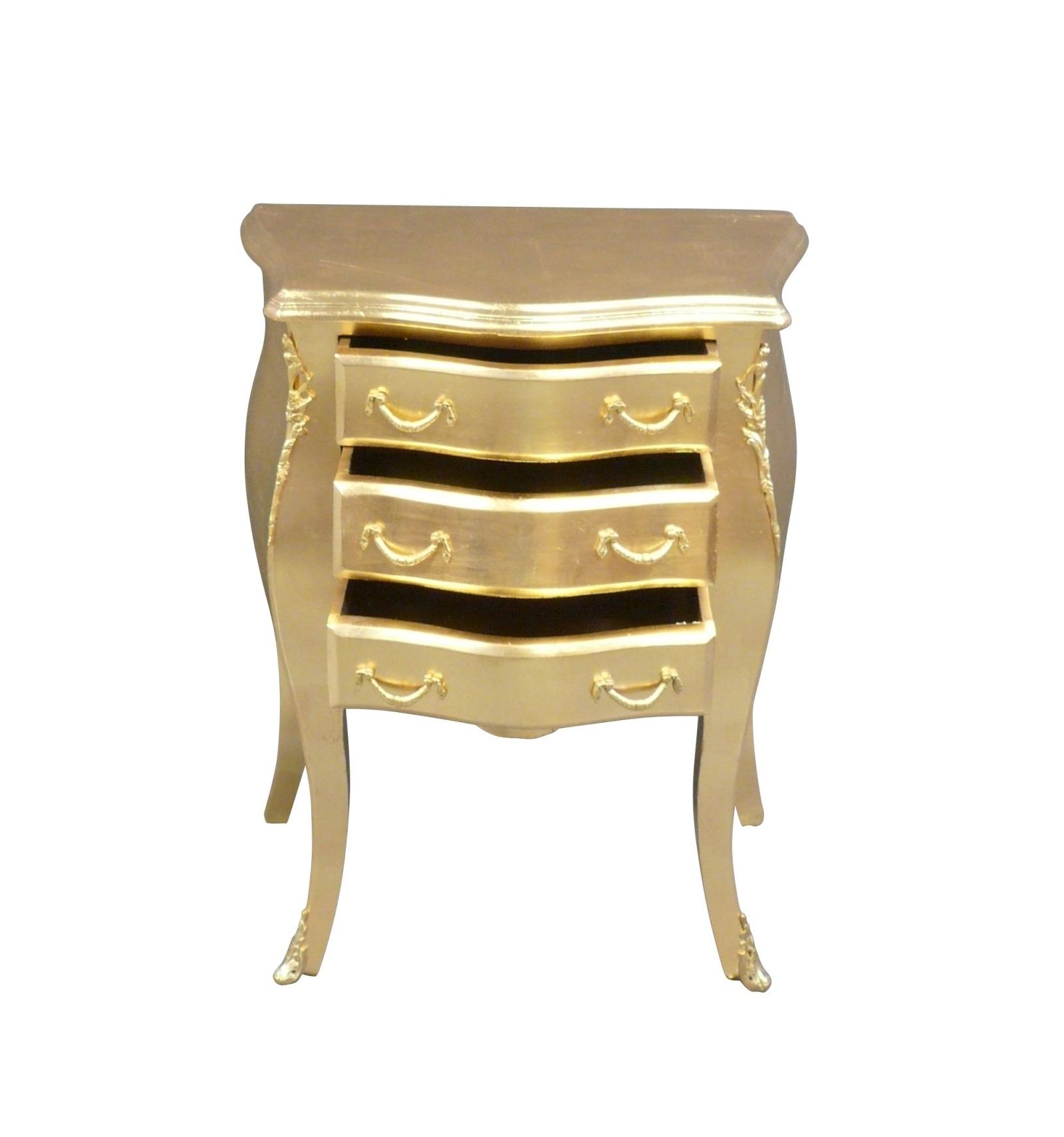 petite commode baroque dor e. Black Bedroom Furniture Sets. Home Design Ideas