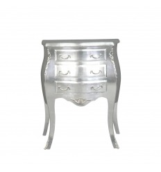 Petite commode baroque argent