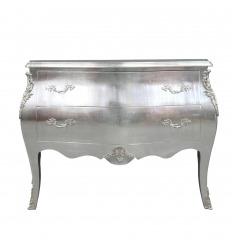 Cómoda barroca plateada estilo Luis XV.